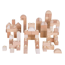 Natural Wooden Click Blocks 100pcs  medium