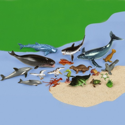 Small World Ocean Animal Collection 30pcs  large