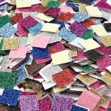 Small Glitter Paper Mosaic Pieces Assorted 4000pk  medium
