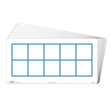 Ten Frames Write \x26 Wipe Flash Cards  large