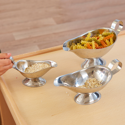 Metal Gravy Boat 3pk  large