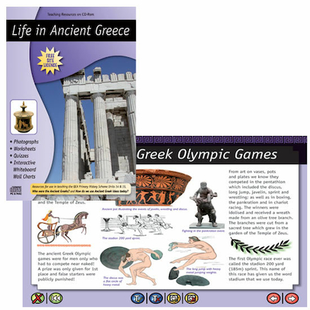 Ancient Greece Teaching Resources CD ROM  large