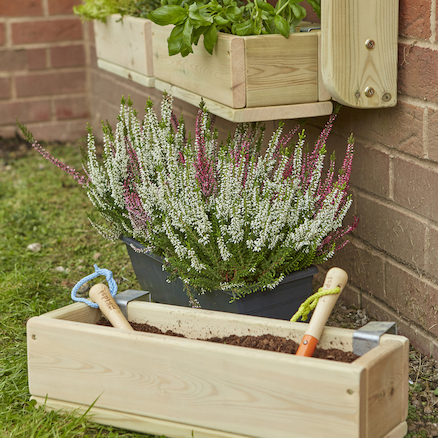 Individual Wooden Planter Sets  large