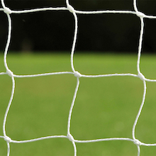 3.5mm Knotted Football Nets Pair  medium