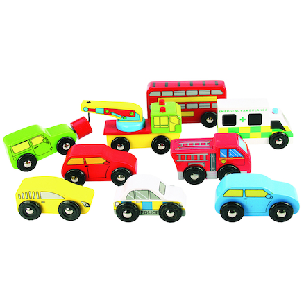 Wooden Vehicles 9pk  large
