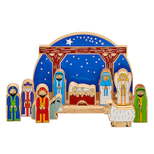 Starry Night Nativity Set with 10 Characters  medium