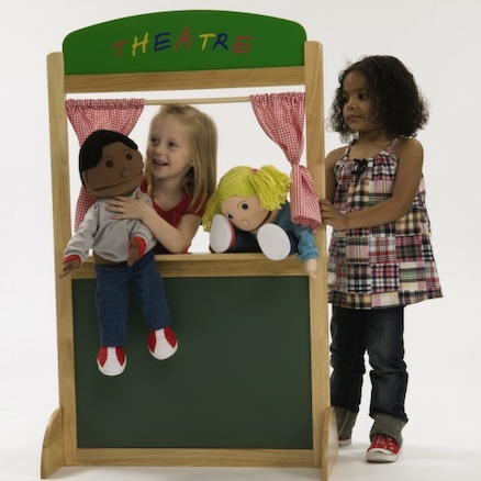 Role Play Wooden Puppet Theatre  large