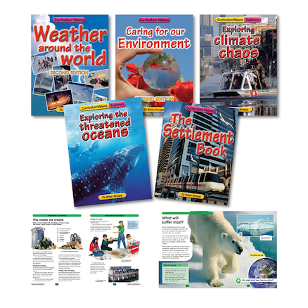 Weather and Climate Change Books and CDs 5pk  large