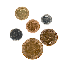 Replica British War Time Coins  medium