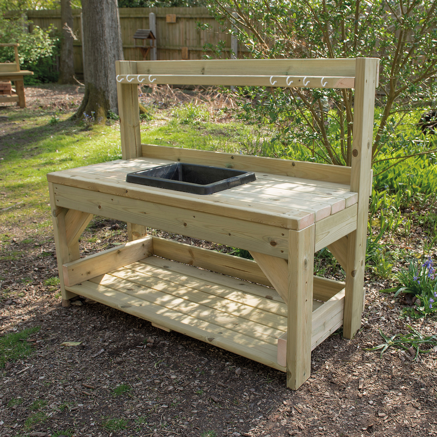 Buy Outdoor Messy Play Wooden Mud Kitchen