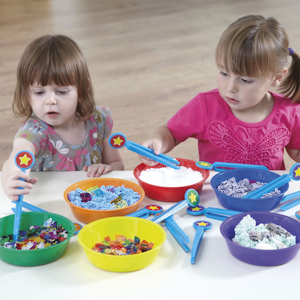 Plastic Rainbow Colour Sorting Bowls  large