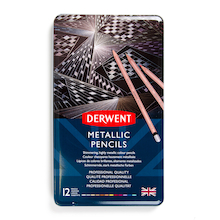 Derwent Metallic Colouring Pencils 12pk  medium