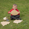 Wooden Leaf Mark Making Boards with Stand  small