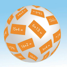 Inflatable Maths Talk Balls  medium