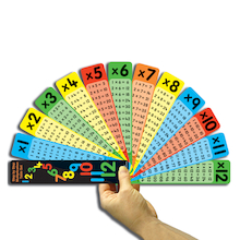 Multiplication Tables Fan 10pk  medium