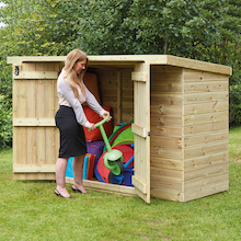 Large Lockable Wooden Outdoor Storage Shed  medium