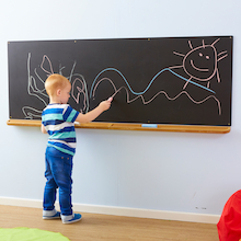 Wall Mounted Long Chalkboard  medium