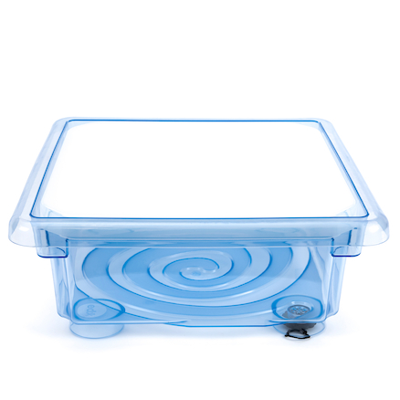 Crystal Clear Tray with Clear Lid  large