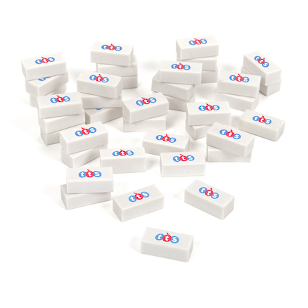 TTS White Erasers  large