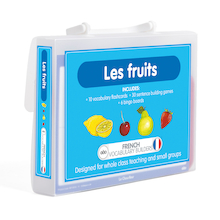 French Vocabulary Builders - Fruits  medium
