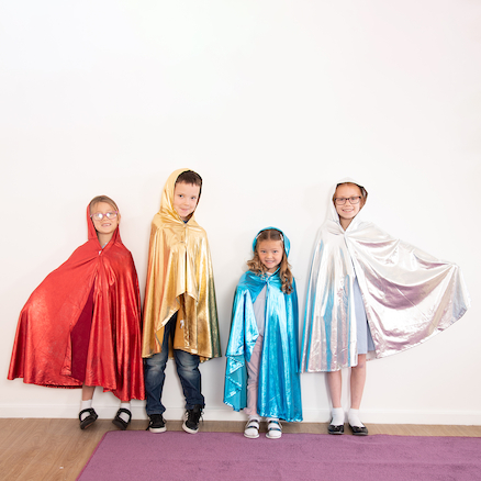 Role Play Dressing Up Glitter Cloaks 4pcs  large