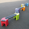 Recyclable Plastic Zigzag Bench  small