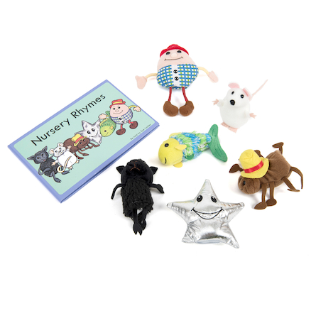 Nursery Rhyme Role Play Finger Puppet Set 6pcs  large