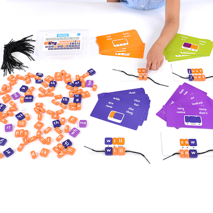Phonics Threading Beads \- High Frequency Words Set  large