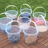 Clear Plastic Buckets 8pk  small
