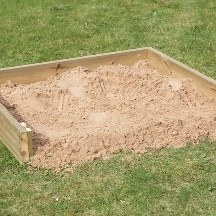 Outdoor Wooden Crawl in Sand Box  large