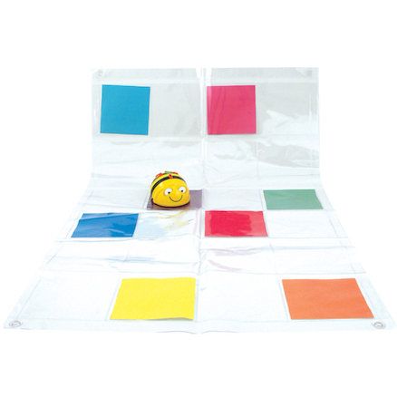 Bee\-Bot\u00ae and Blue\-Bot Transparent Pocket Mat  large