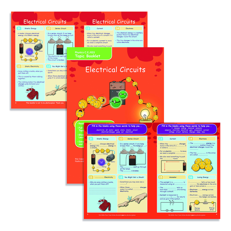 Buy Ks3 Electrical Circuits Revision Activity Cards Tts Electricity And Small