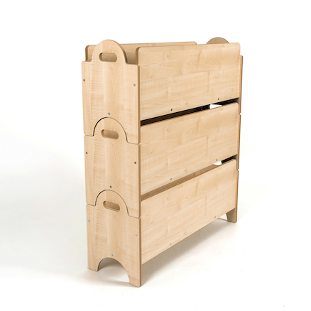 Indoor Wooden Stacking Boxes Deep Compartment  large