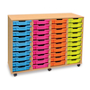 Mobile Tray Storage Unit With 40 Shallow Trays  small