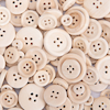 Plain Wooden Buttons  small