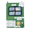 Soft Fabric Weather Wall Chart with Motifs  small