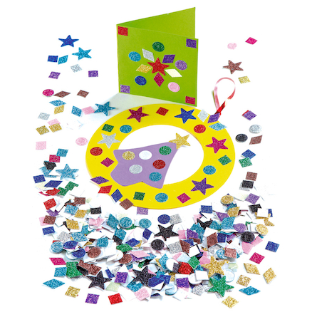 Glitter Mixed Paper Shapes Assorted 2000pk  large