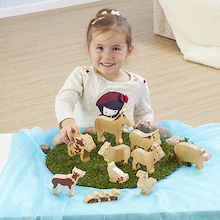 Wooden Farm Animals 10pk  medium