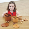 Wooden Sorting Bowls, Counter and Spoon Set 54pcs  small