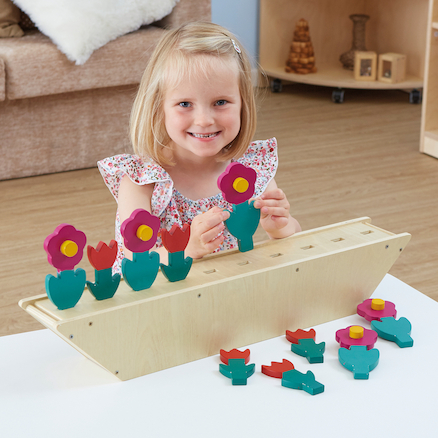 Wooden Counting and Sequencing Flowers 1\-10  large