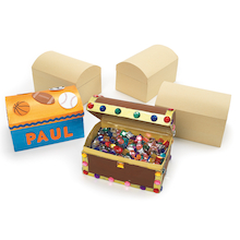 Papier Mache Treasure Chest Set 12pk  medium