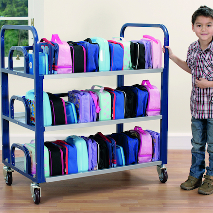 Steel Frame Double Lunchbox Trolley  large