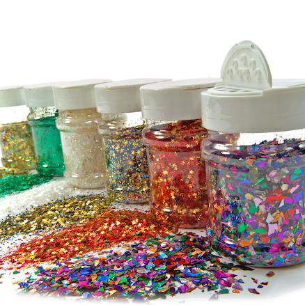 Assorted Glitter Shapes Class Set 6pk  large