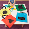 Shape Sorting Bags 4pk  small