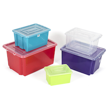 Stack and Store Plastic Storage Boxes  medium