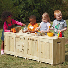 The Outdoor Wooden Role Play Kitchen  medium
