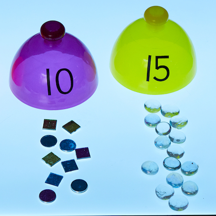 Lightbox Translucent Number Sorting Domes  large