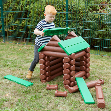 Jumbo Log Building Set  large