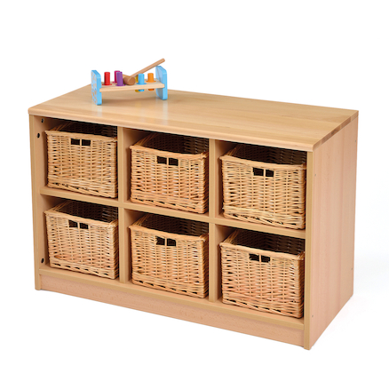 Room Scene Six Tray Storage Unit  large