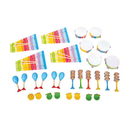 Colourful Pre School Musical Instrument Set 30pcs  large